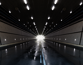 Realistic Tunnel 3D model