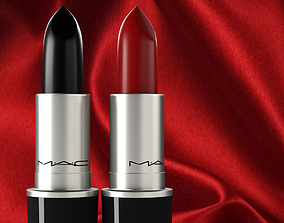 3D MAC Lipstick High-Poly and Unwrapped