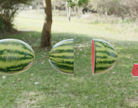 3D asset game-ready Watermelon