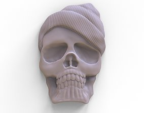 bas-relief of the skull 3D printable model