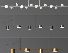 Linear Suspension Chandelier Collection 3D model