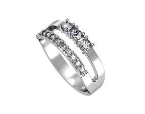 Diamond path ring 3D print model