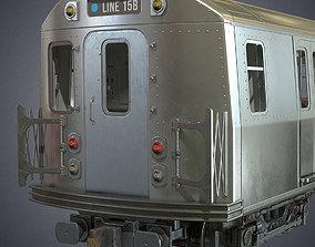 3D model VR / AR ready Metro subway train