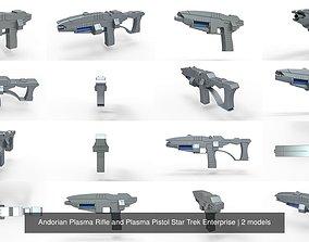 Andorian Plasma Rifle and Plasma Pistol Star Trek 3D model