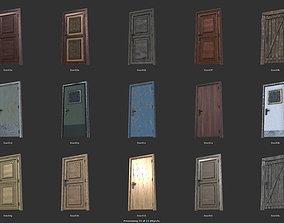 3D asset low-poly Door Set