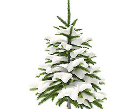Fir Tree with Snow 0point8m 3D model