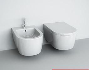 Wall-mounted WC Bidet 3D model