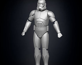Phase 2 Animated Clone Trooper Armor 3D printable model
