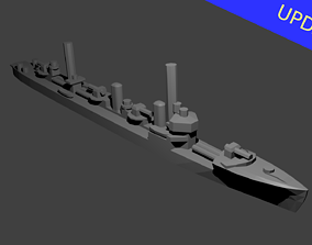 Japanese Minekaze Class Destroyer Warship 3D print model