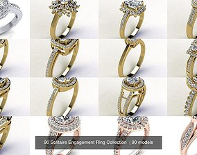 solitaire 3D 90 Solitaire Engagement Ring Collection