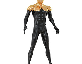 3D Faceless mannequin with gold top 134