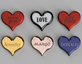 3D print model Valentine Day Heart any Fonts