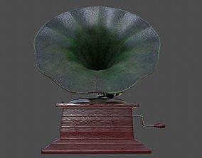 Phonograph - PBR 3D model
