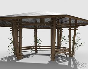 3D model Wooden Pavilion