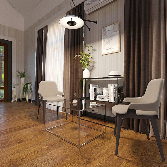 Livingroom design and 3d visualization