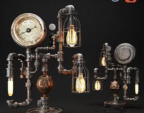 3D model Steampunk Industrial 75 Steam Gauge