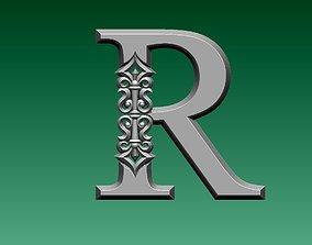 letter R 3D print model