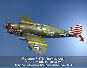 Republic P-47D Thunderbolt - 22 3D