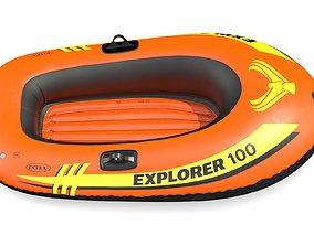 Intex Explorer 100 Inflatable Boat Series 3D