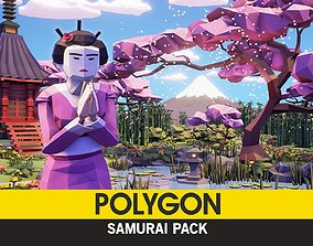 3D model POLYGON - Samurai