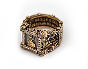 3D print model ring St Nicholas