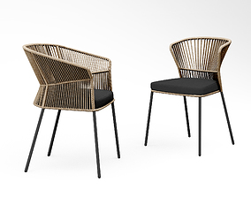 new Potocco Ola chair 893 and Ola armchair 893 3D