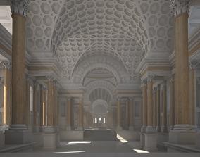 Interior of an Ancient Temple greek 3D model
