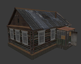 3D asset low-poly Old Village House 1