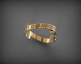 3D printable model Ring ESSE QUAM VIDERI