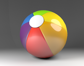 child beach ball 3D model
