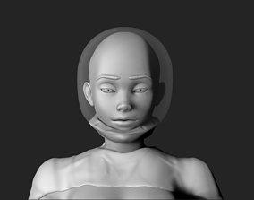 3D model Space girl
