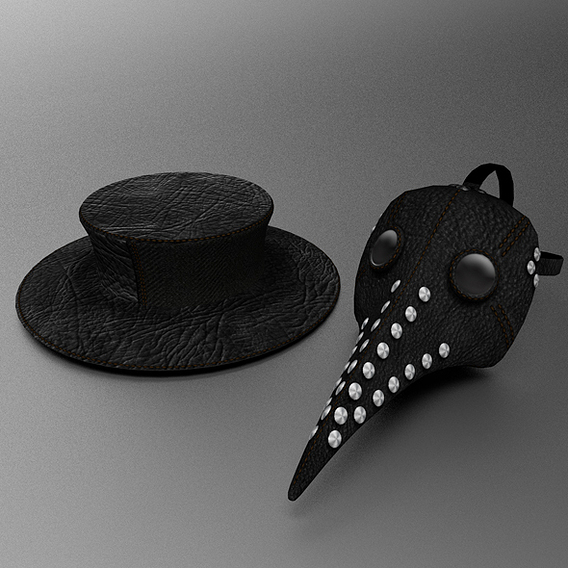 Plague Doctors mask and hat