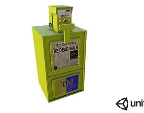 Newspaper Bin 3D asset