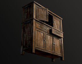 3D model game-ready Wooden Chest Of Drawers