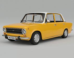 3D model realtime Fiat 124 1974