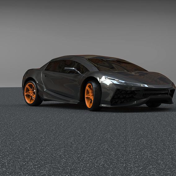 Car design Abai Sikumbaev 2020
