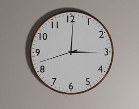3D asset animated game-ready Wall Clock
