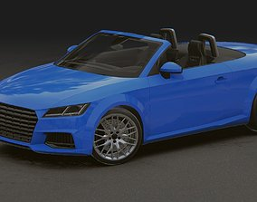 3D asset Realistic Mobile Car 14 Audi TT Roadster