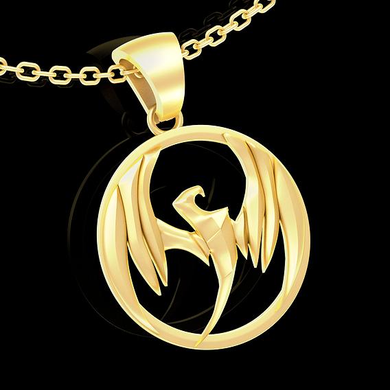 Storm Hawks Pendant jewelry Gold 3D print model