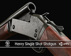 PBR Henry Single Shot Shotgun 3D model