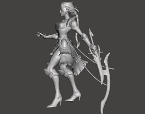 Battle Queen Diana 3D Model