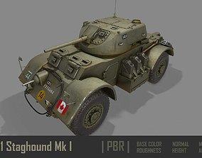 3D asset T17E1 Staghound Mk1 Armoured Car PBR