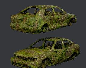 Apocalyptic Damaged Destroyed Vehicle Car 3D asset 3