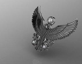 eagle pendant 3D printable model