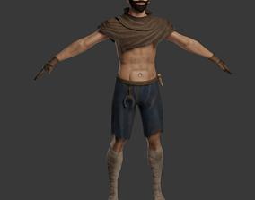 Beggar 3D asset rigged