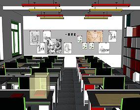 3D model Office-Teaching Building-Canteen 15