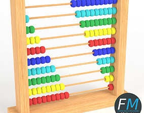 3D model PBR Abacus toy