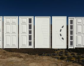 A collection of wooden doors for your building 3D model