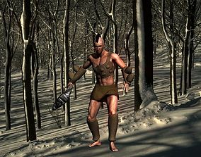 Tribal warrior quick 3D model