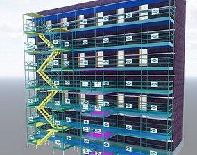 3D model Parametric Scaffolding Tower